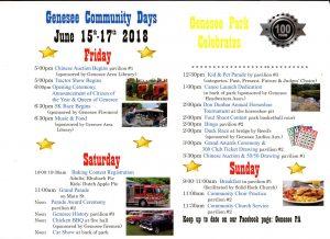 Genesee Community Days @ Genesee Park | Genesee | Pennsylvania | United States